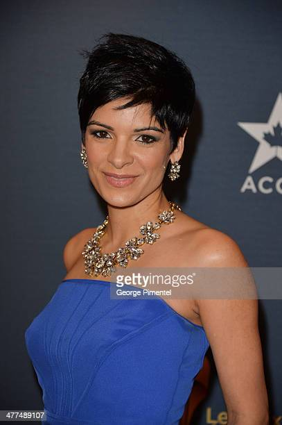 News Anchor AnneMarie Mediwake arrives at the Canadian Screen Awards at Sony Centre for the Performing Arts on March 9 2014 in Toronto Canada