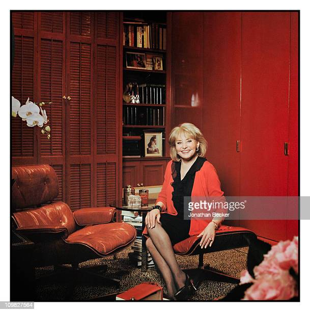 News anchor Barbara Walters is photographed at home for Vanity Fair Magazine on October 5 2010 in New York City Published image
