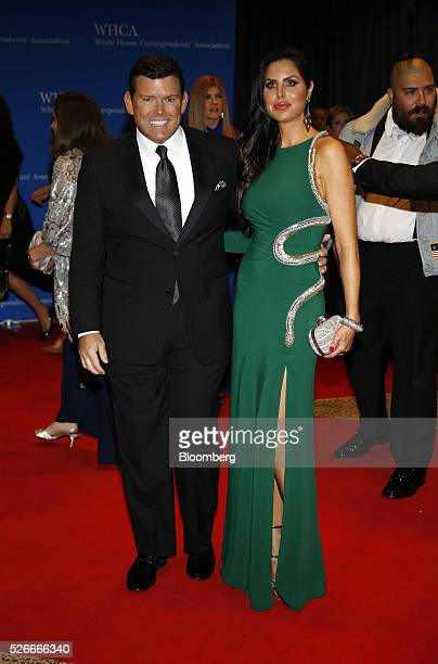 News anchor Bret Baier left and Amy Baier arrive for the White House Correspondents' Association dinner in Washington DC US on Saturday April 30 2016...