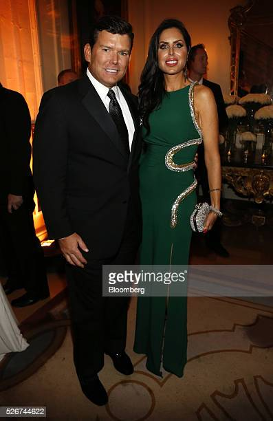 News anchor Bret Baier left and Amy Baier attend the Bloomberg Vanity Fair White House Correspondents' Association dinner afterparty in Washington DC...