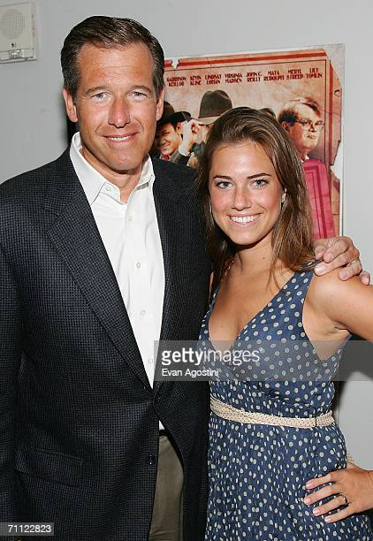 News anchor Brian Williams and his daughter Allison Williams attend the premiere of 'A Prairie Home Companion' at DGA Theater June 4 2006 in New York...