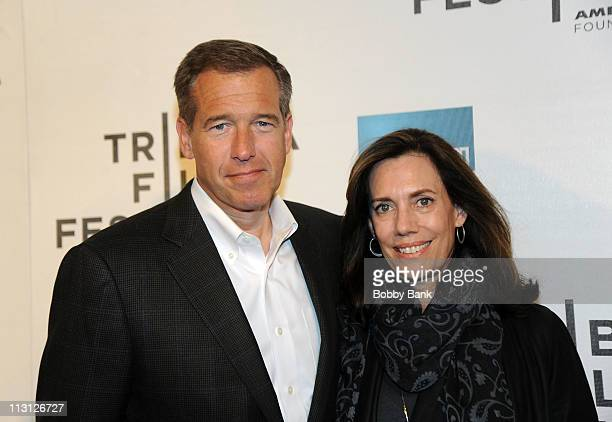 News anchor Brian Williams and his wife Jane Stoddard Williams attend the Tribeca Talks Directors Series with Robert De Niro and Brian Williams...