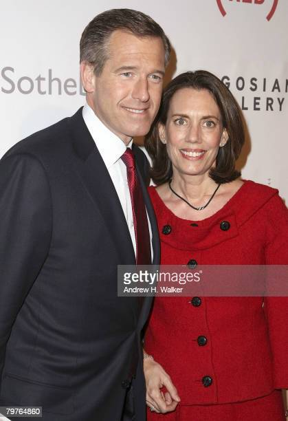News anchor Brian Williams and his wife Jane Stoddard Williams attend The Auction On Valentine's Day hosted by Sotheby's February 14 2008 in New York...