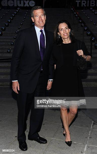 News anchor Brian Williams and Jane Stoddard Williams attend the Vanity Fair Party during the 9th Annual Tribeca Film Festival at the New York State...