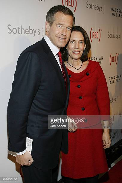 News anchor Brian Williams and Jane Stoddard Williams attend The Auction to raise money to fight AIDS in Africa at Sotheby's on February 14 2008 in...