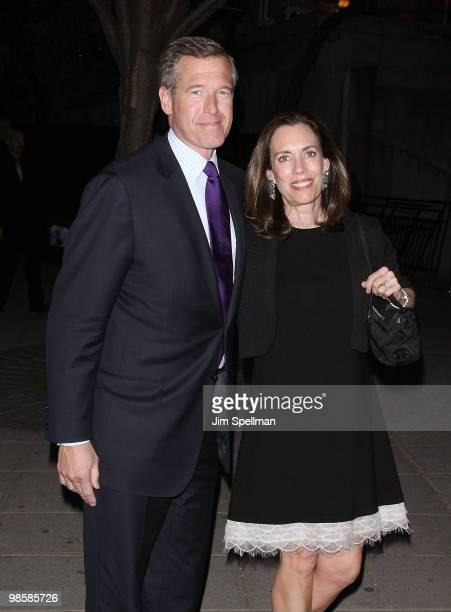 News anchor Brian Williams and wife attend the Vanity Fair Party during the 9th Annual Tribeca Film Festival at New York State Supreme Court on April...