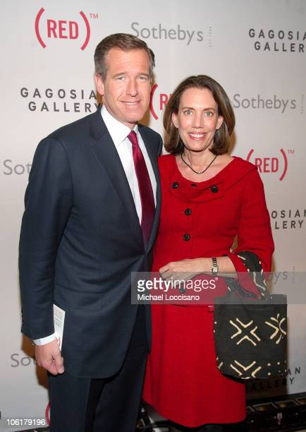 News anchor Brian Williams and wife Jane Stoddard Williams attend the Auction On Valentine's Day to Benefit AIDS in Africa hosted by and at Sotheby's...