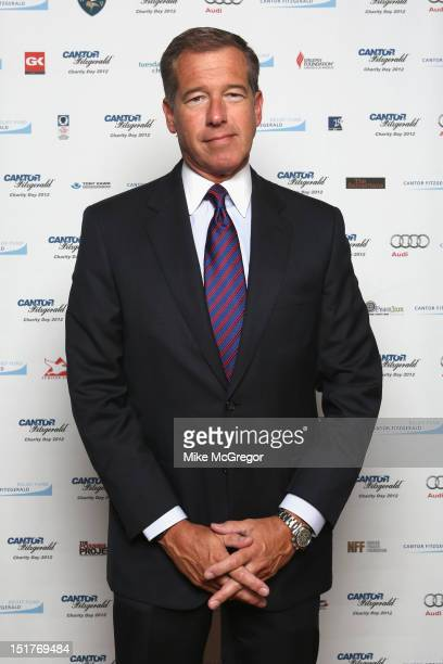 News anchor Brian Williams attends Cantor Fitzgerald BGC Partners host annual charity day on 9/11 to benefit over 100 charities worldwide at Cantor...