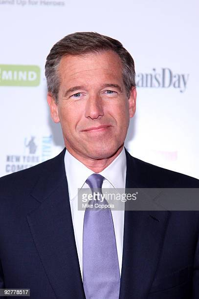 News anchor Brian Williams attends Stand Up For Heroes A Benefit For The Bob Woodruff Foundation at Town Hall on November 4 2009 in New York City