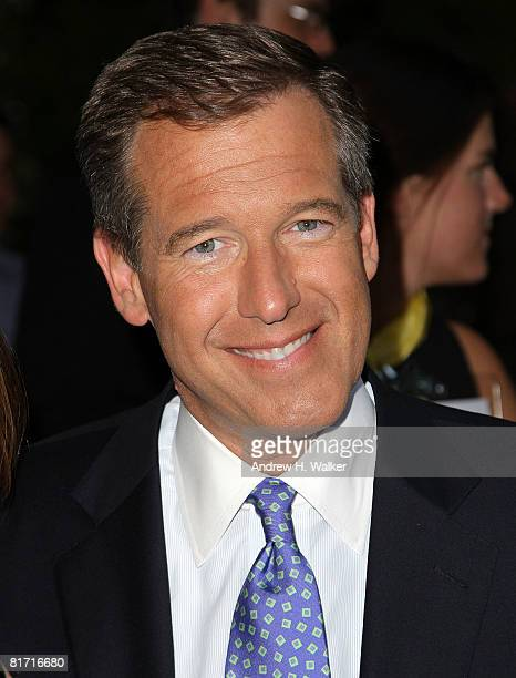 News anchor Brian Williams attends the reception for Gonzo The Life and Work of Dr Hunter S Thompson on June 25 2008 at The Waverly Inn in New York...