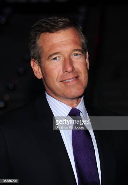 News anchor Brian Williams attends the Vanity Fair Party during the 9th Annual Tribeca Film Festival at the New York State Supreme Court on April 20...