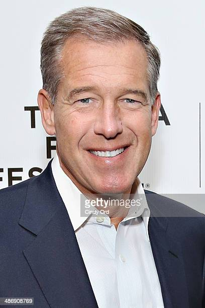 News anchor Brian Williams attends Tribeca Talks Director's Series Ron Howard 2014 Tribeca Film Festival at BMCC Tribeca PAC on April 26 2014 in New...