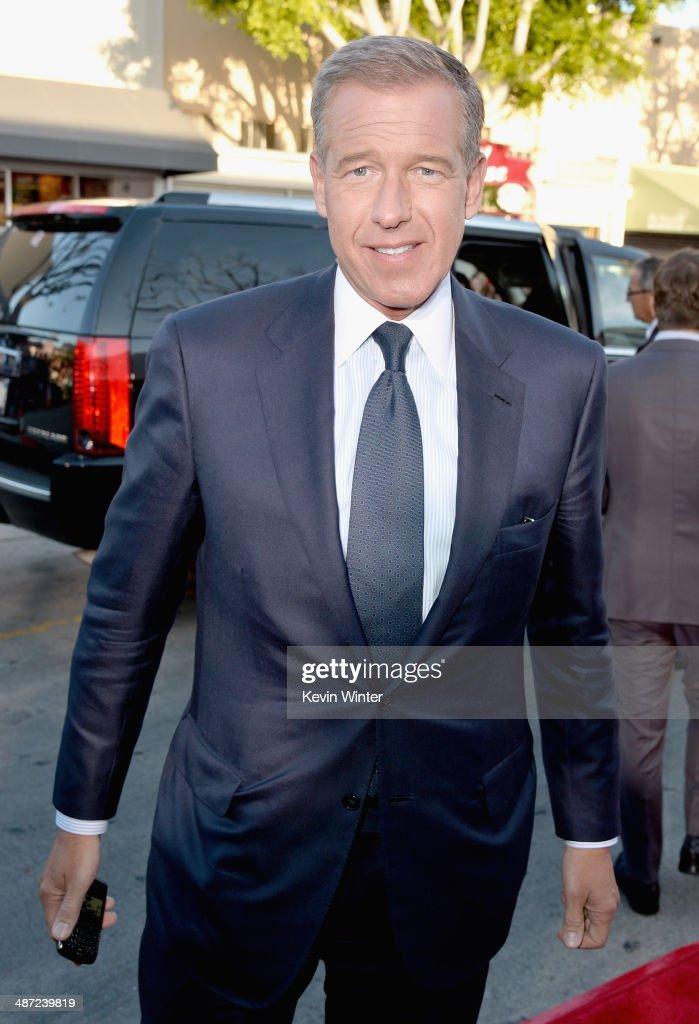 News anchor Brian Williams attends Universal Pictures' 'Neighbors' premiere at Regency Village Theatre on April 28, 2014 in Westwood, California.