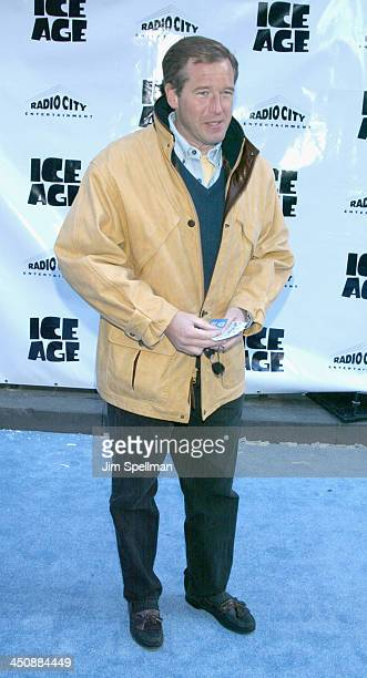 News anchor Brian Williams during World Premiere Of Ice Age at Radio City Music Hall in New York City New York United States