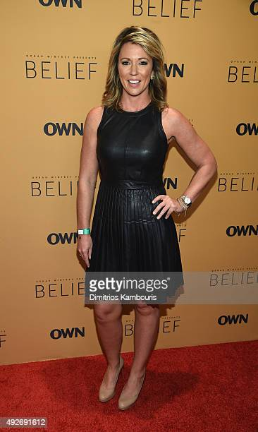 News Anchor Brooke Baldwin attends the Belief New York premiere at TheTimesCenter on October 14 2015 in New York City