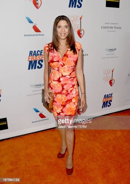 News Anchor Christine Devine attends the 20th Annual Race To Erase MS Gala Love To Erase MS at the Hyatt Regency Century Plaza on May 3 2013 in...