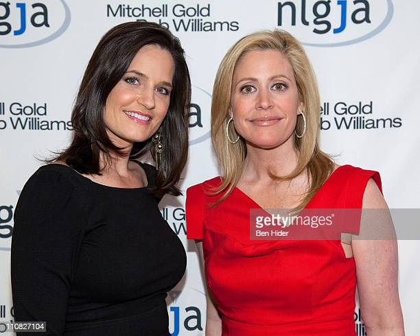 MSNBC news anchor Contessa Brewer and CNBC news anchor Melissa Francis attends the National Lesbian gay Journalists Association 16th Annual New York...