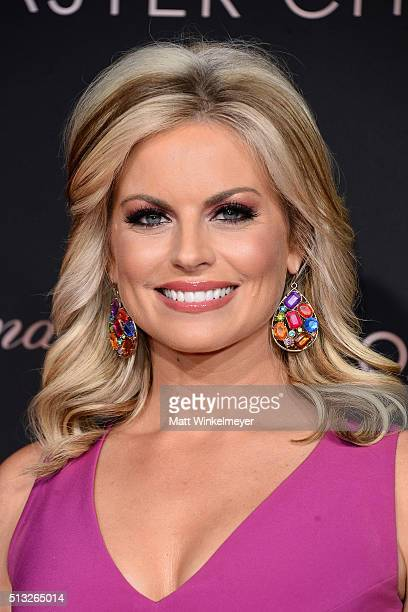 TV news anchor Courtney Friel attends the OMEGA celebrates the launch of the Master Chronometer Globemaster at Mack Sennett Studios on March 1 2016...