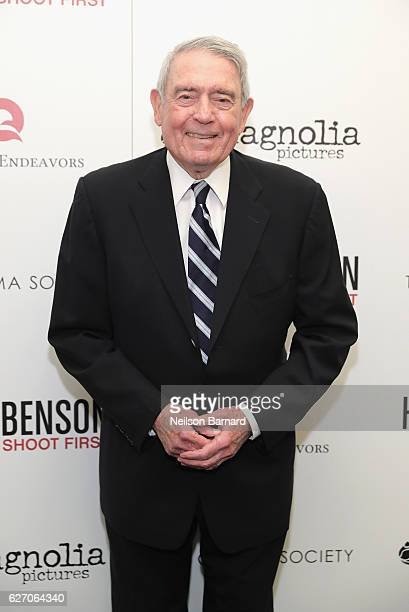 News Anchor Dan Rather attends the Magnolia Pictures The Cinema Society host the premiere of 'Harry Benson Shoot First' at the Beekman Theatre on...