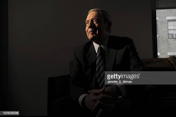 News Anchor Dan Rather is photographed in New York for the Los Angeles Times