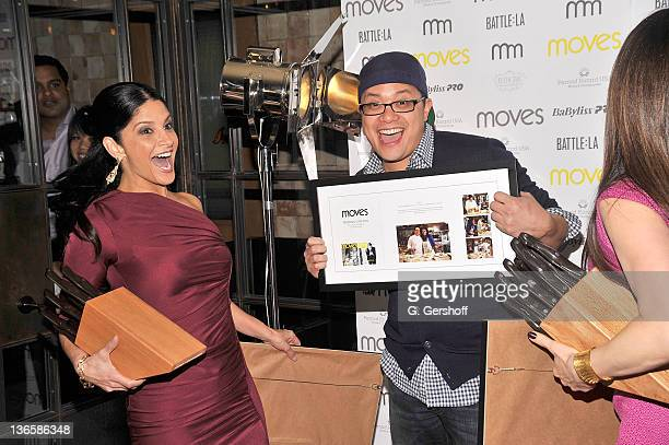 TV news anchor Darlene Rodriguez and chef Dale Talde attend the 2011 New York Moves Magazine Spring Party at Plein Sud on March 10 2011 in New York...