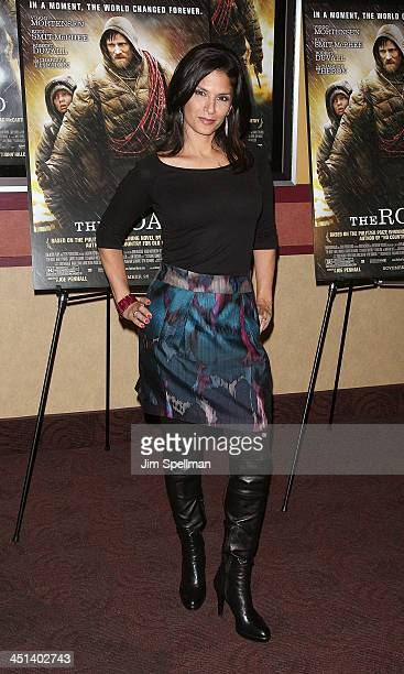 News Anchor Darlene Rodriguez attends the premiere of The Road at Clearview Chelsea Cinemas on November 16 2009 in New York City