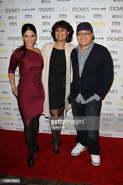News anchor Darlene Rodriguez Moves publisher Moonah Ellison and Chef Dale Talde the 2011 New York Moves Magazine Spring Party at Plein Sud on March...