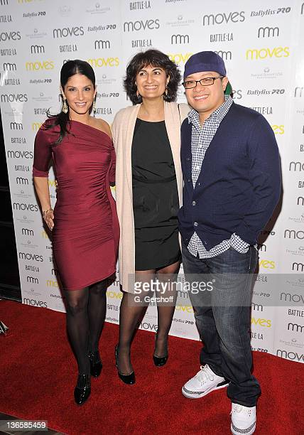 TV news anchor Darlene Rodriguez Moves Publisher Moonah Ellison and chef Dale Talde attend the 2011 New York Moves Magazine Spring Party at Plein Sud...