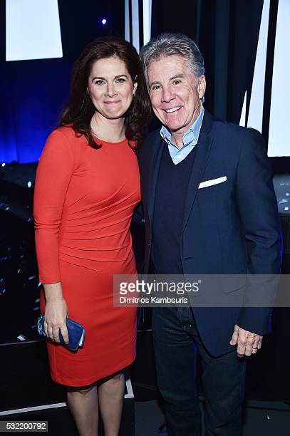 News anchor Erin Burnett and TV personality John Walsh attend the Turner Upfront 2016 reception at The Theater at Madison Square Garden on May 18,...