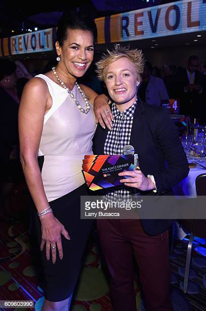 News Anchor Fredricka Whitfield and actress and comedian Emma Willmann attend the 33rd Annual Kaitz Foundation Fundraising Dinner at Marriott Marquis...