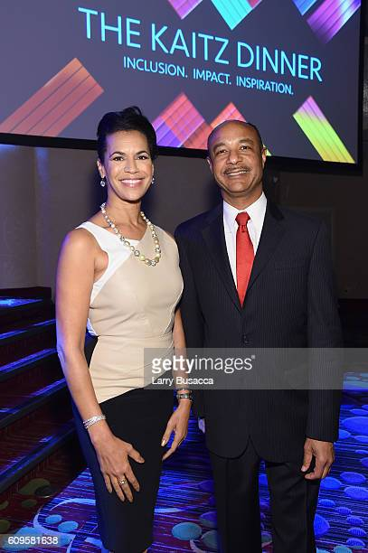 News Anchor Fredricka Whitfield and David Porter executive director Walter Kaitz Foundation attend the 33rd Annual Kaitz Foundation Fundraising...