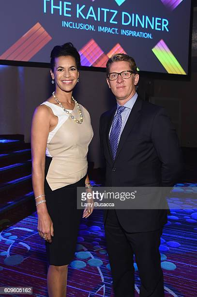 News Anchor Fredricka Whitfield and John Martin Chairman and CEO Turner attend the 33rd Annual Kaitz Foundation Fundraising Dinner at Marriott...