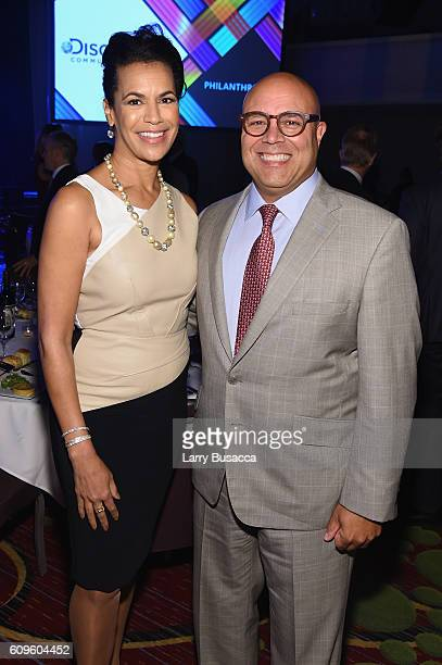 News Anchor Fredricka Whitfield and President and CEO of National Cable Telecommunications Association Michael Powell attend the 33rd Annual Kaitz...
