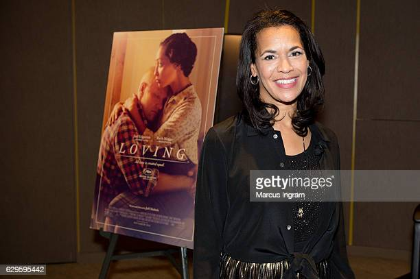 News anchor Fredricka Whitfield attends the panel discussion Loving at National Center for Civil and Human Rights on December 13 2016 in Atlanta...