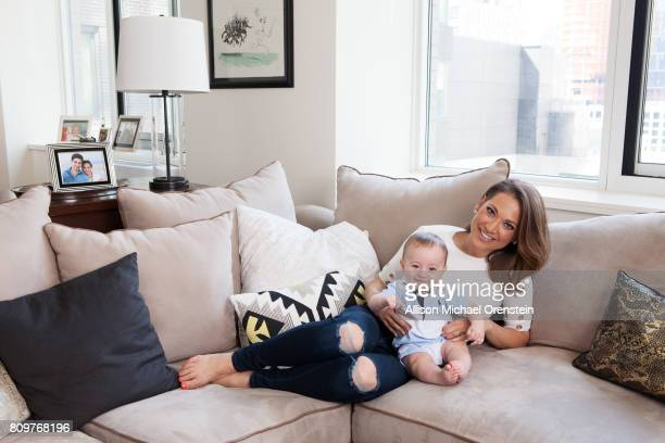 News anchor Ginger Zee and son Adrian Benjamin are photographed for People Magazine on June 6 2016 in New York City PUBLISHED IMAGE