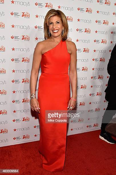 News anchor Hoda Kotb attends the Go Red For Women Red Dress Collection 2015 presented by Macy'sfashion show during MercedesBenz Fashion Week Fall...