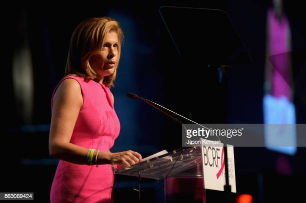 News anchor Hoda Kotb speaks onstage at the Breast Cancer Research Foundation New York Symposium and Awards Luncheon at New York Hilton on October 19...