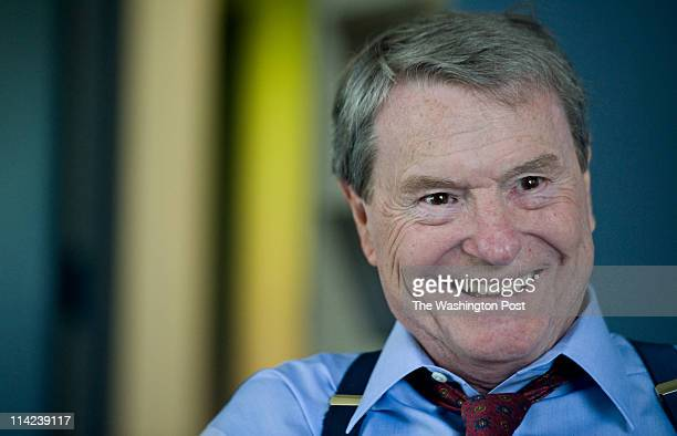 PBS news anchor Jim Lehrer poses for a portrait in his office in Arlington Virginia on Thursday May 12 2011 Lehrer will soon retire