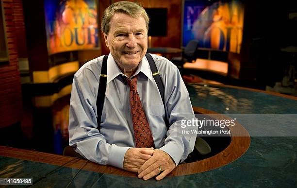 PBS news anchor Jim Lehrer poses for a portrait in his studio in Arlington Virginia on Thursday May 12 2011 Lehrer will soon retire