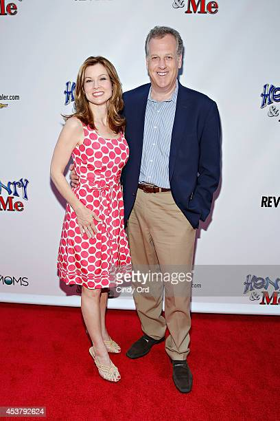 News anchor Jodi Applegate and Yankees broadcaster Michael Kay attend the 'Henry Me' New York Premiere at Ziegfeld Theatre on August 18 2014 in New...