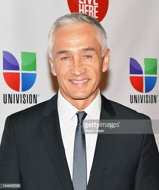 News Anchor Jorge Ramos attends Univision Upfront 2012 Reception at Cipriani 42nd Street on May 15 2012 in New York City