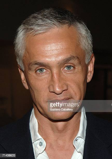 News anchor Jorge Ramos poses in the press room at the 3rd Annual Premios Juventud Awards at the University of Miami BankUnited Center July 13 2006...