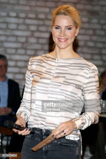 News anchor Judith Rakers during the TV Talk '3 nach 9' on January 26 2018 in Hamburg Germany