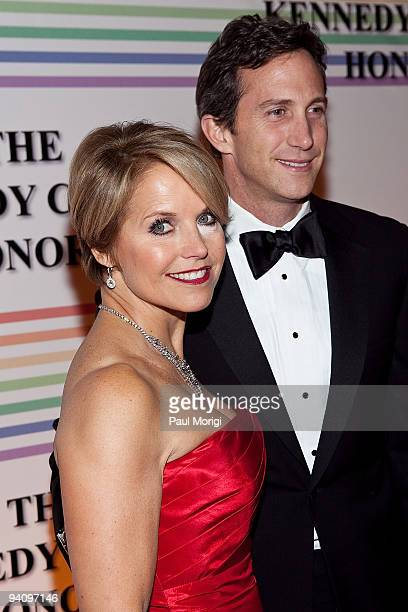 News anchor Katie Couric and Brooks Perlin arrive to the 32nd Kennedy Center Honors at Kennedy Center Hall of States on December 6 2009 in Washington...