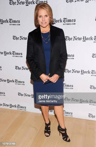 News anchor Katie Couric attends the 10th Annual New York Times Arts Leisure Weekend photocall at the Times Center on January 6 2011 in New York City