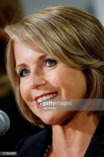 CBS News Anchor Katie Couric attends the Make That Call For Colon Cancer Screening campaign launch at the Monahan GI Center at...