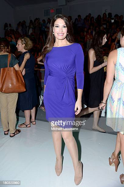 News anchor Kimberly Guilfoyle attends the Milly By Michelle Smith fashion show during MercedesBenz Fashion Week Spring 2014 at The Stage at Lincoln...