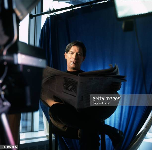 News anchor Kurt Loder poses for a portrait at MTV Studios in New York City New York