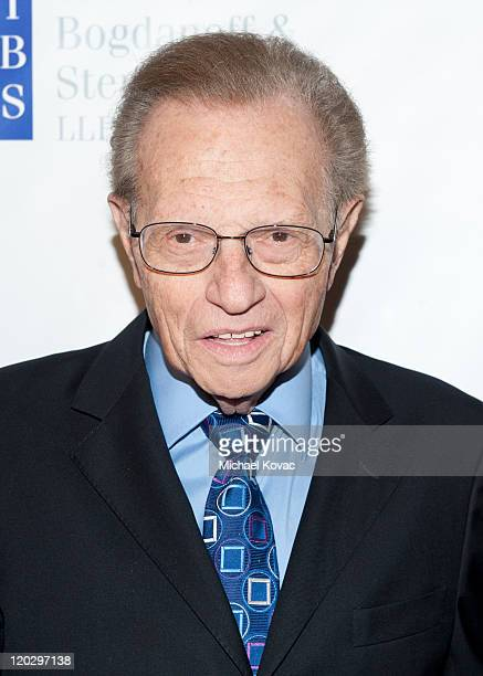 News anchor Larry King arrives at the 11th Annual Harold Pump Foundation Gala - Arrivals at the Hyatt Regency Century Plaza on August 3, 2011 in...