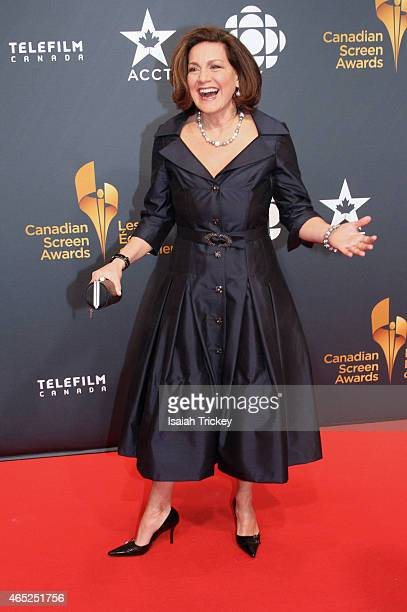 News anchor Lisa Laflamme arrives at the 2015 Canadian Screen Awards at the Four Seasons Centre for the Performing Arts on March 1 2015 in Toronto...